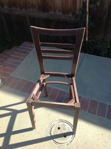 This is the wooden chair minus the seat.